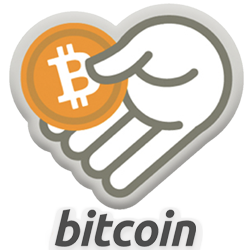 Hand with a Bitcoin in it