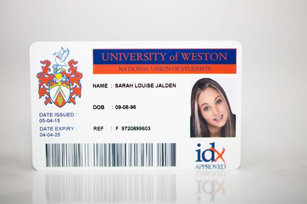 University Library Card front
